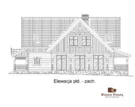 projekt domu mazurskiego z bali struga 1,6