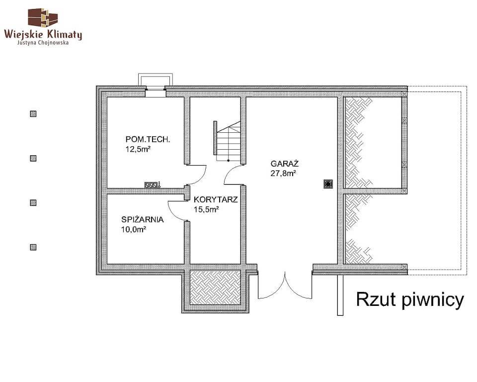 projekt domu z bala maranka 2,1
