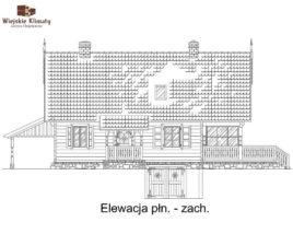 projekt domu z bala maranka 2,4