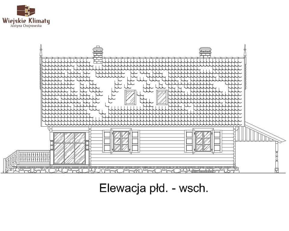 projekt domu z bala maranka 2,5