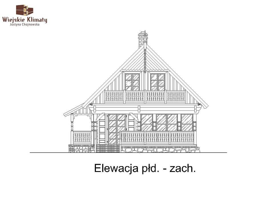 projekt domu z bala maranka 2,6
