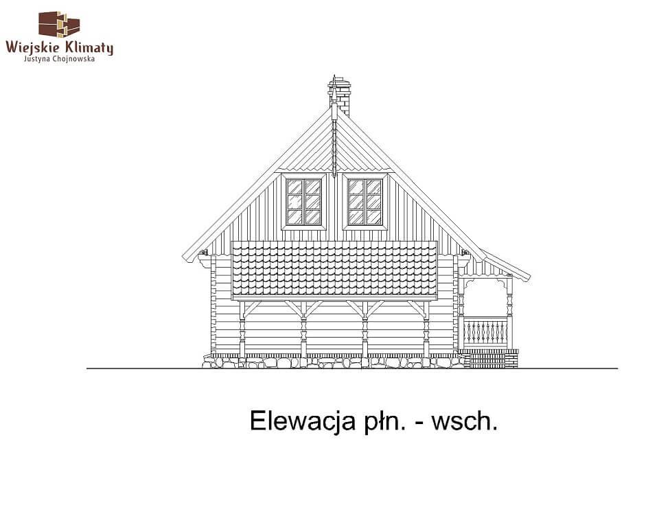 projekt domu z bala maranka 2,7