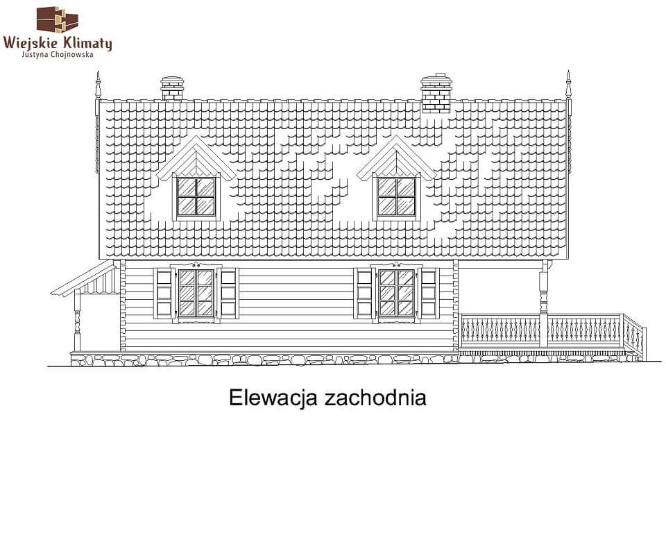 projekt domu z bala maranka 3,4
