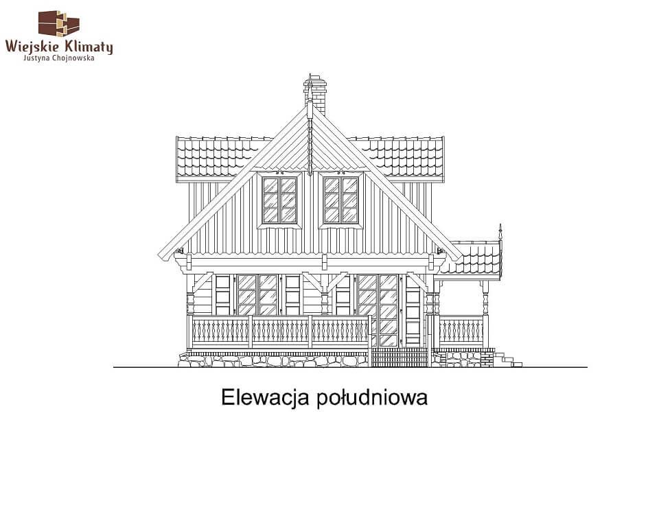 projekt domu z bala maranka 3,5