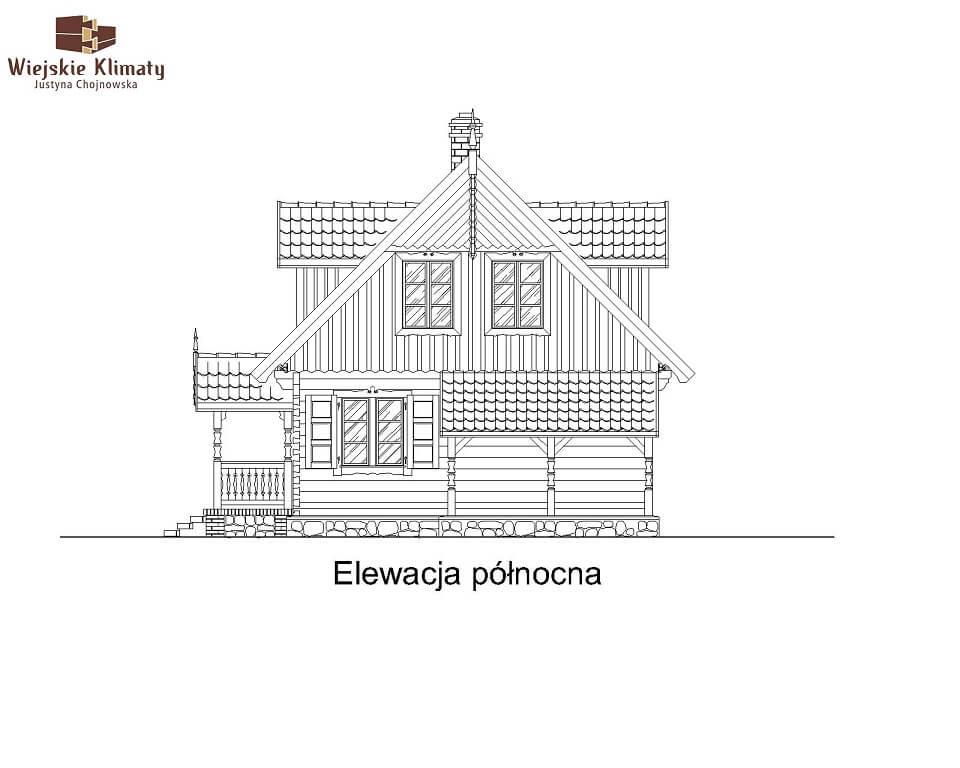 projekt domu z bala maranka 3,6