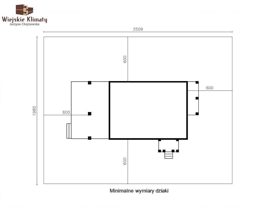 projekt domu z bala maranka 3,8