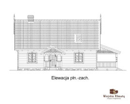 projekt domu z bali borowina 3,4