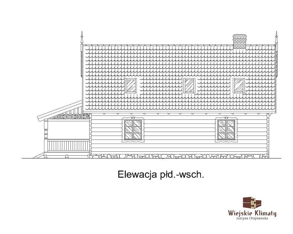 projekt domu z bali borowina 3,5