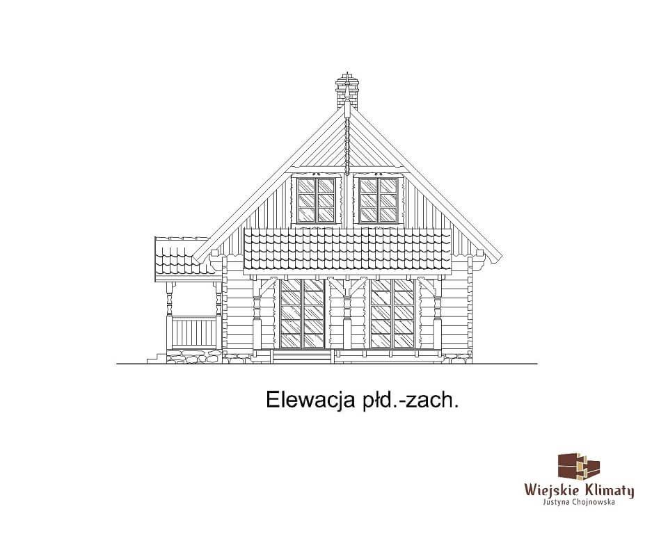 projekt domu z bali borowina 3,6