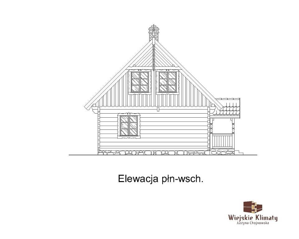 projekt domu z bali borowina 3,7
