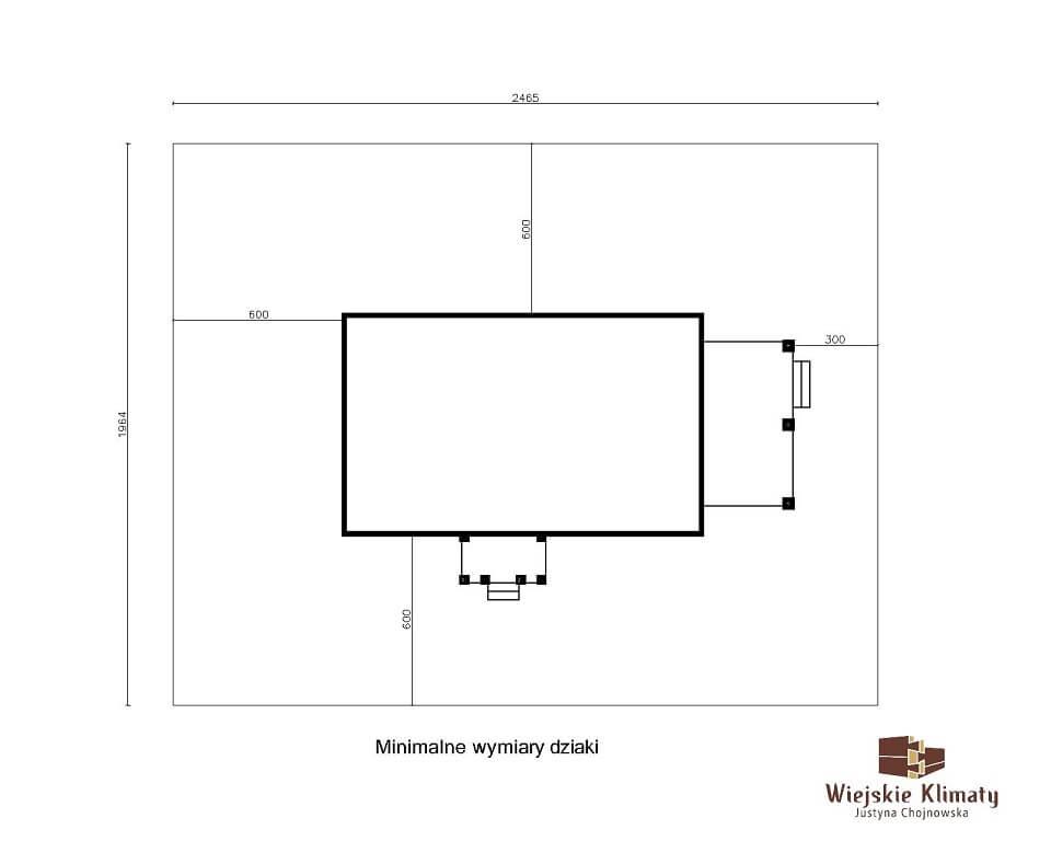 projekt domu z bali borowina 3,8