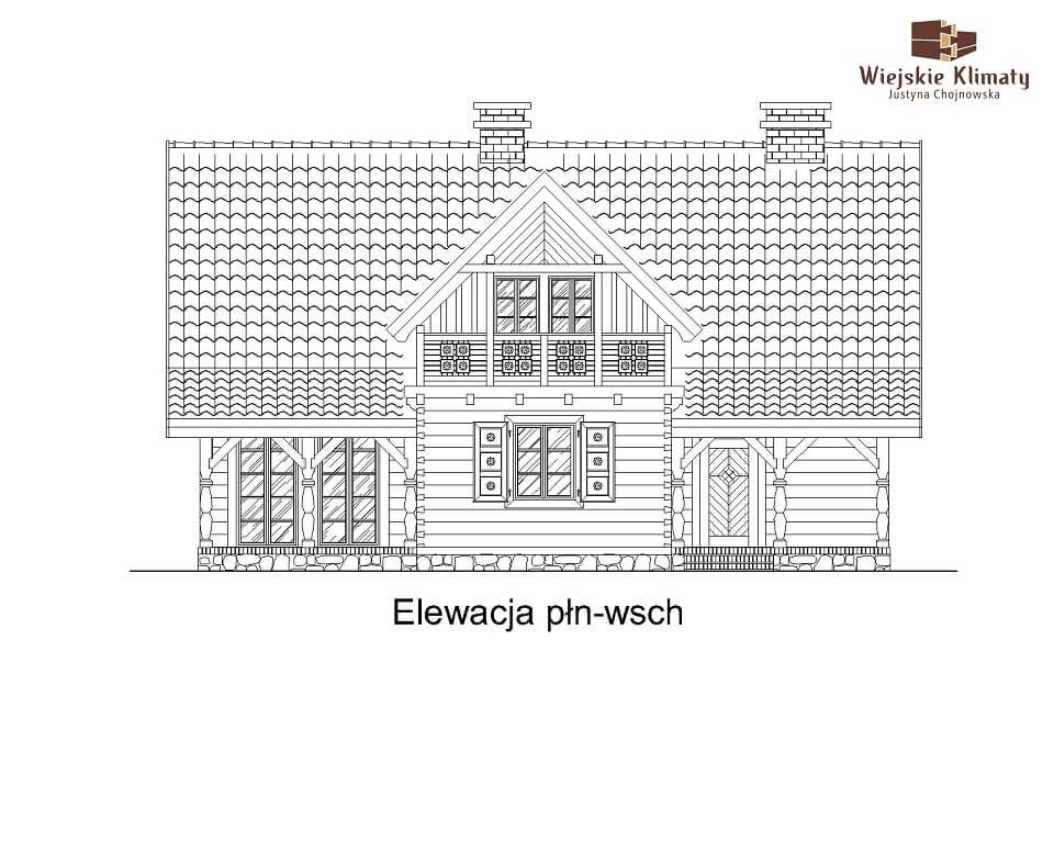 projekt domu z bali jutrznia 1,3