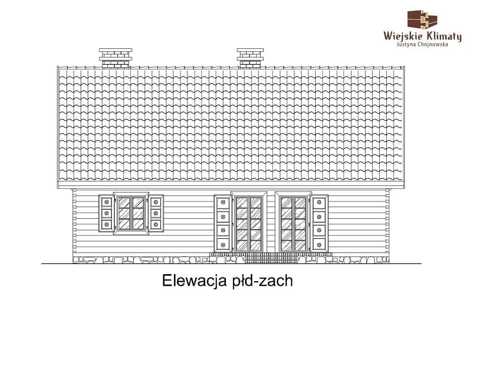 projekt domu z bali jutrznia 1,4