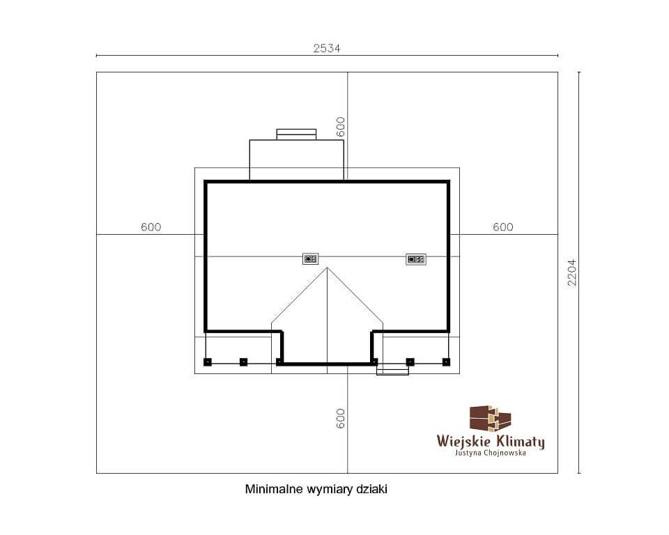 projekt domu z bali jutrznia 1,8
