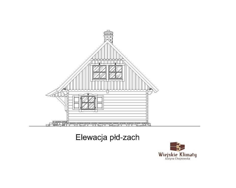 projekt domu z bali panienka 1,6