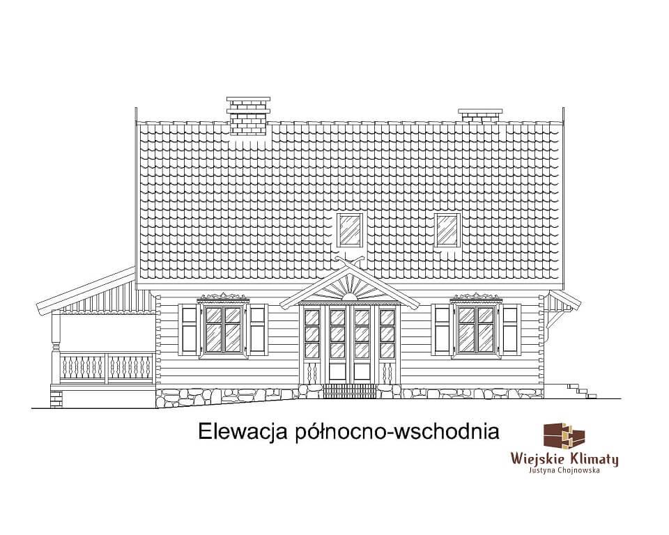 projekt drewnianego domu kurpiowskiego kurpik 1.3