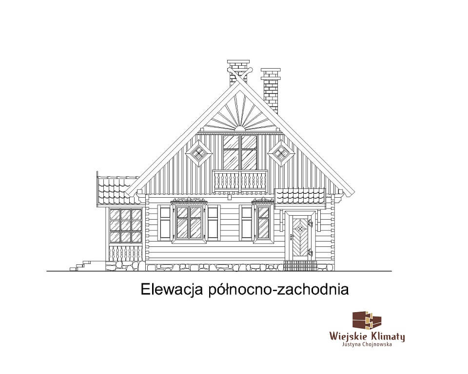 projekt drewnianego domu kurpiowskiego kurpik 1.5