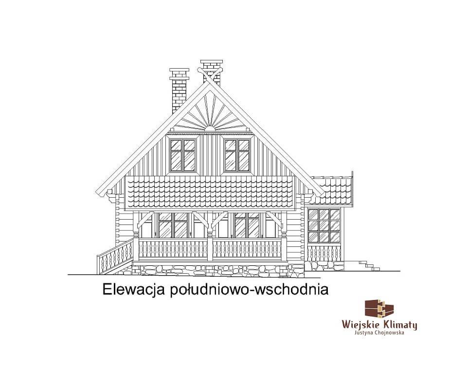 projekt drewnianego domu kurpiowskiego kurpik 1.6