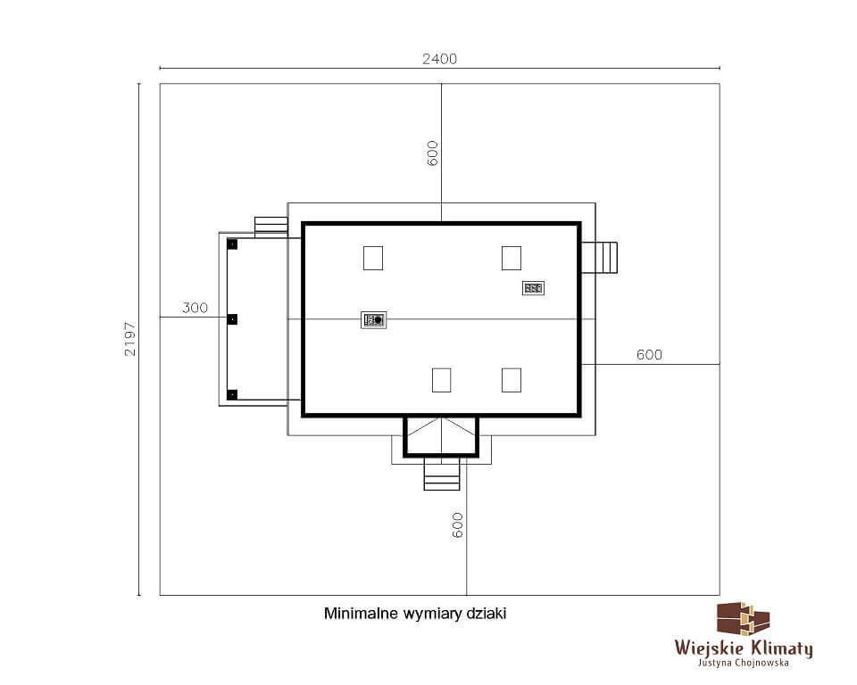 projekt drewnianego domu kurpiowskiego kurpik 1.8