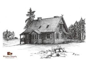 projekt drewnianego domu kurpiowskiego kurpik