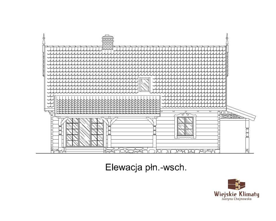 projekt drewnianego domu mazurskiego borowina 1.4