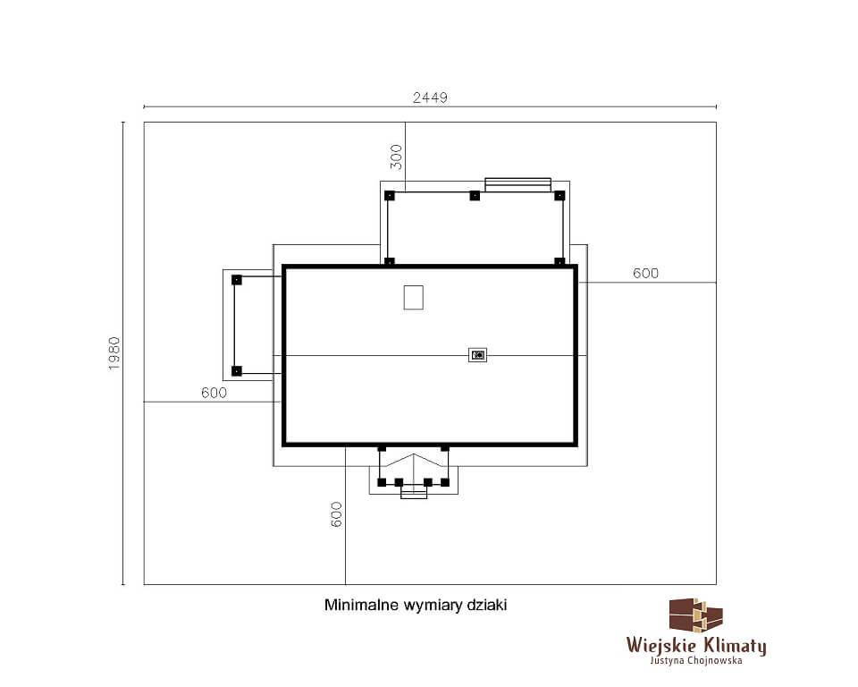 projekt drewnianego domu mazurskiego borowina 1.8