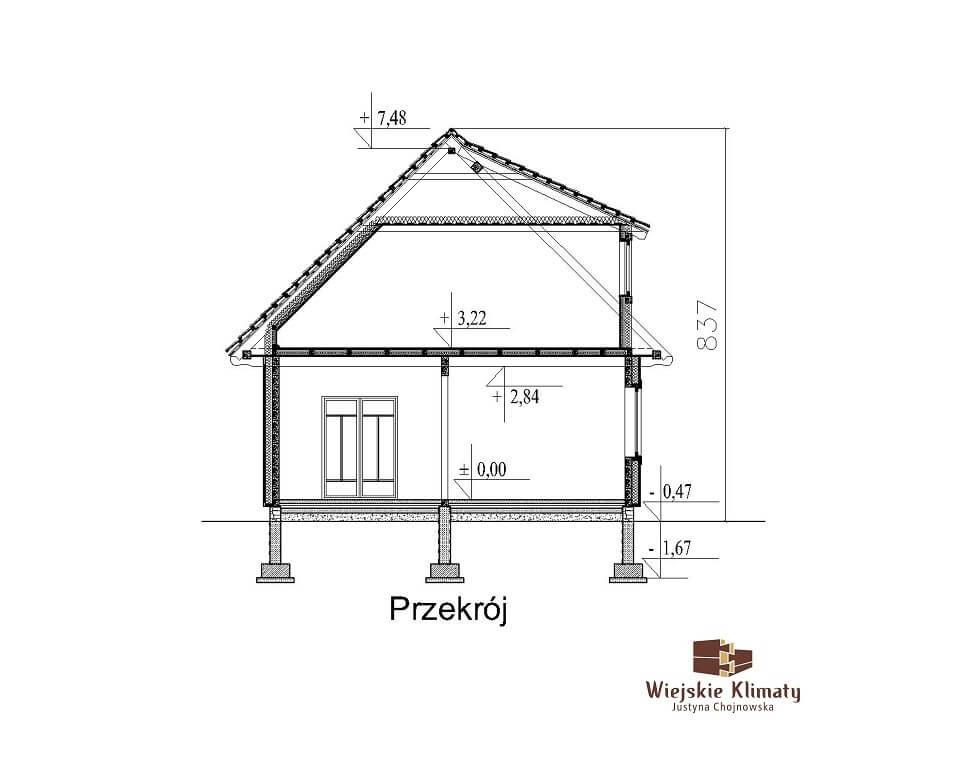 projekt drewnianego domu podlaskiego doświatek 1,6