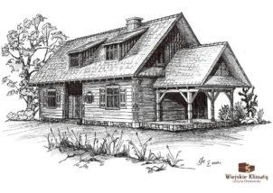 projekt drewnianego domu podlaskiego doświatek 1,8