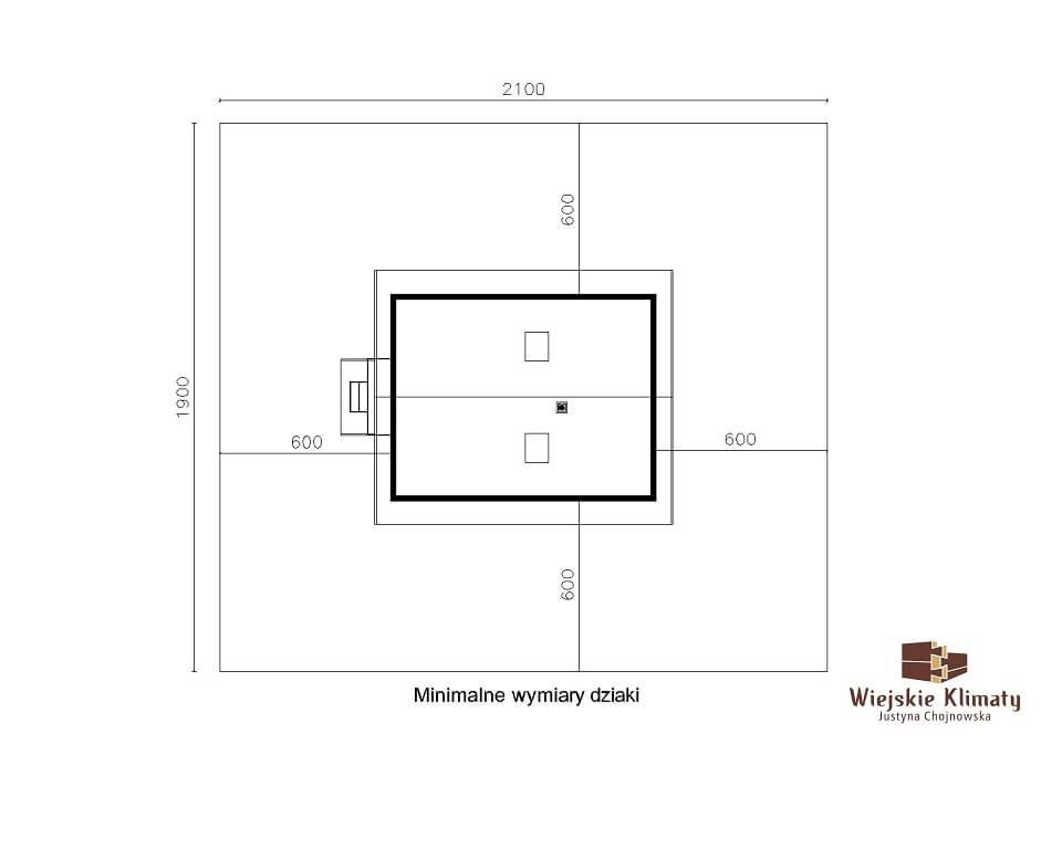 projekt małego domu z bali kukiełka 1,8