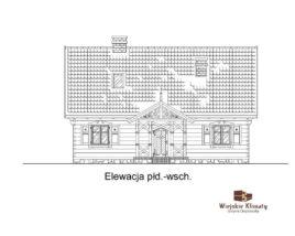 projekt mazurskiego domu drewnianego gadka 1,3