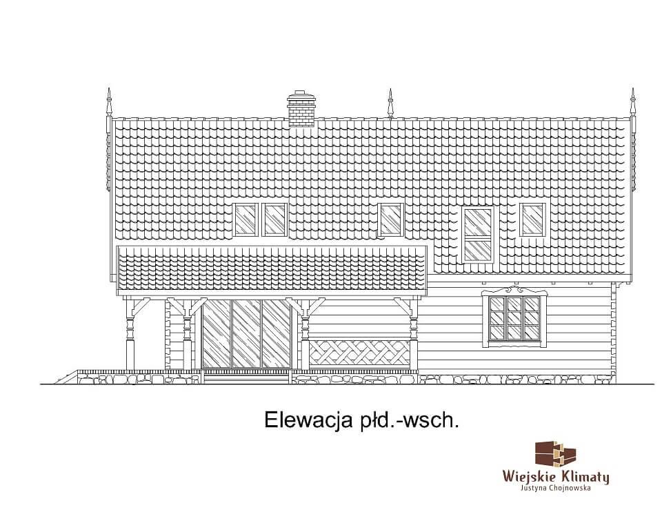 projekt regionalnego domu drewnianego mazurskiego uciecha 1,4