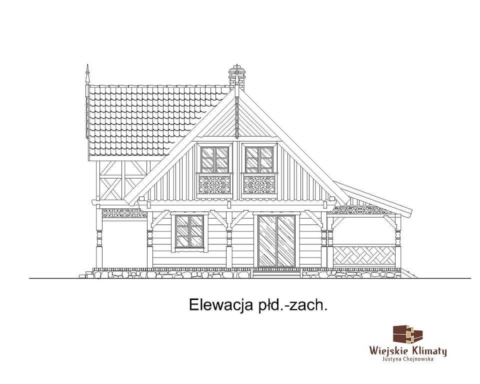 projekt regionalnego domu drewnianego mazurskiego uciecha 1,5
