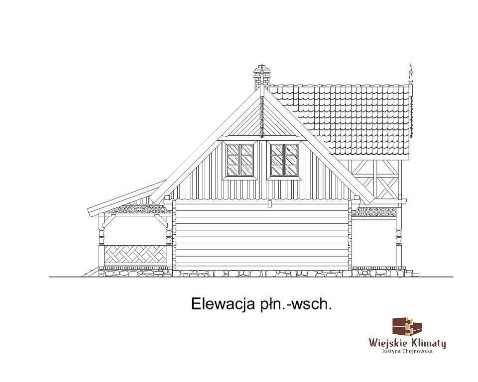 projekt regionalnego domu drewnianego mazurskiego uciecha 1,6
