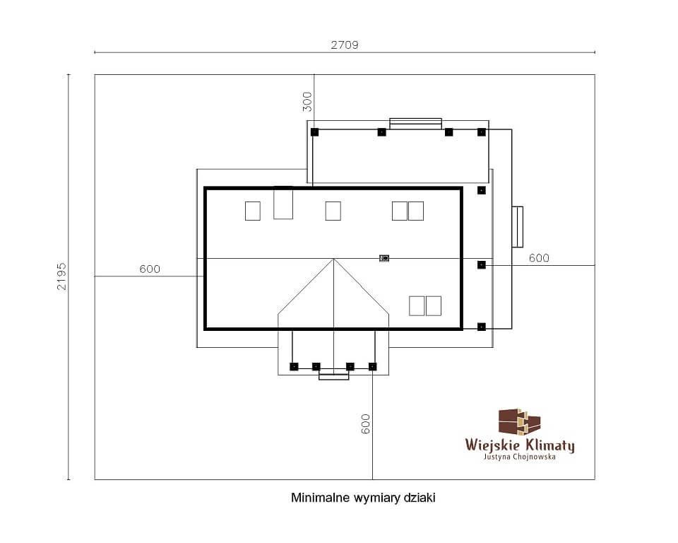 projekt regionalnego domu drewnianego mazurskiego uciecha 1,8