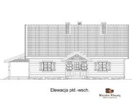 projekt domu z bali drewnianych listek 1,3