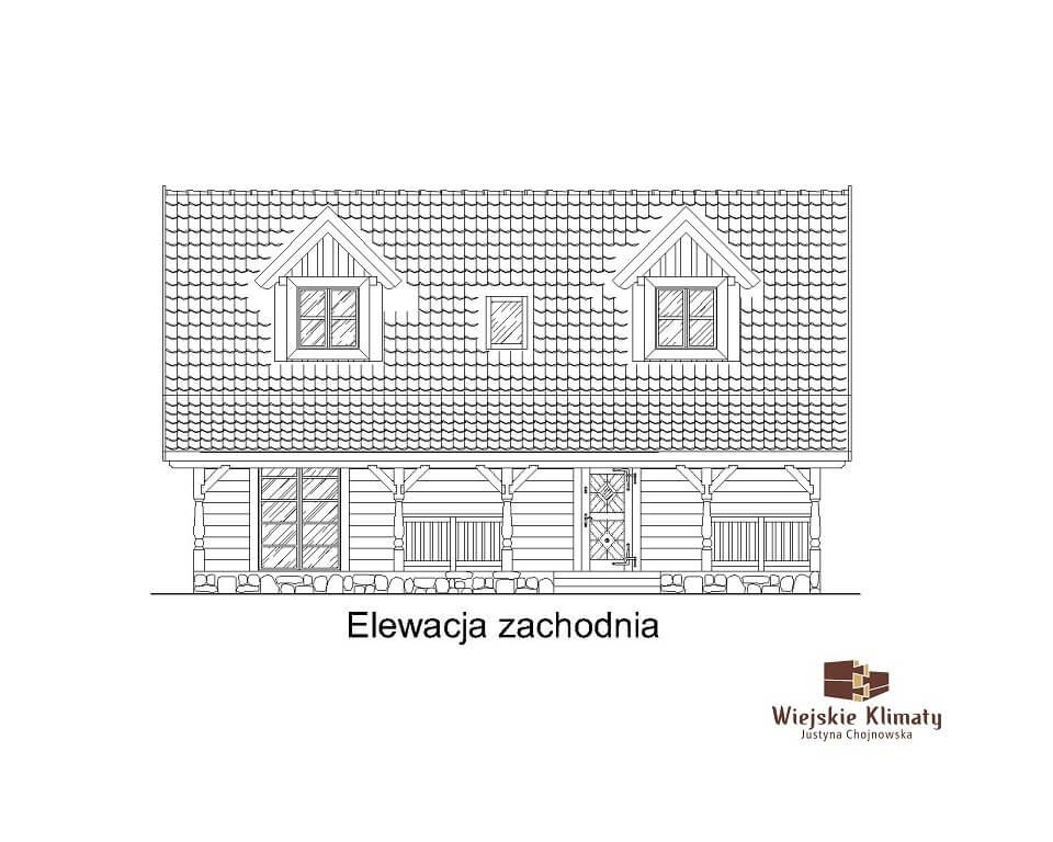 projekt domu z bali westka 1,3