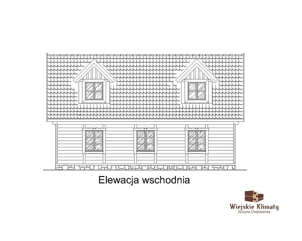 projekt domu z bali westka 1,4