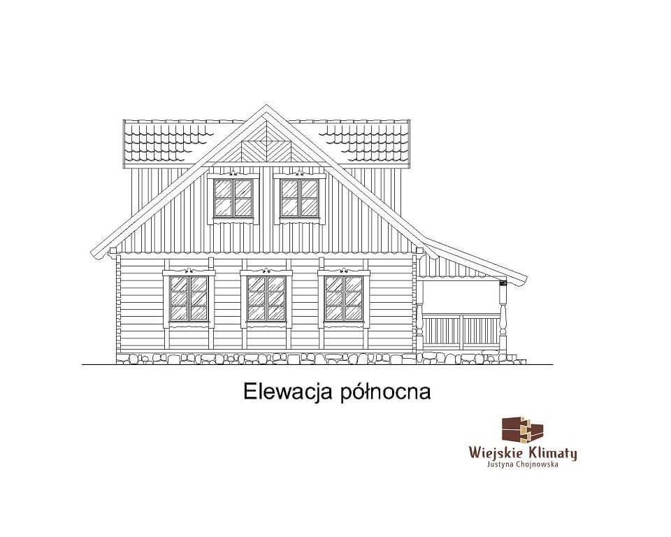 projekt domu z bali westka 1,5