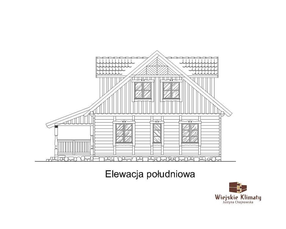 projekt domu z bali westka 1,6
