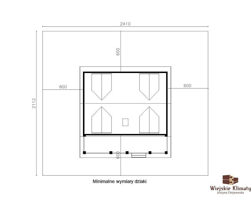 projekt domu z bali westka 1,8