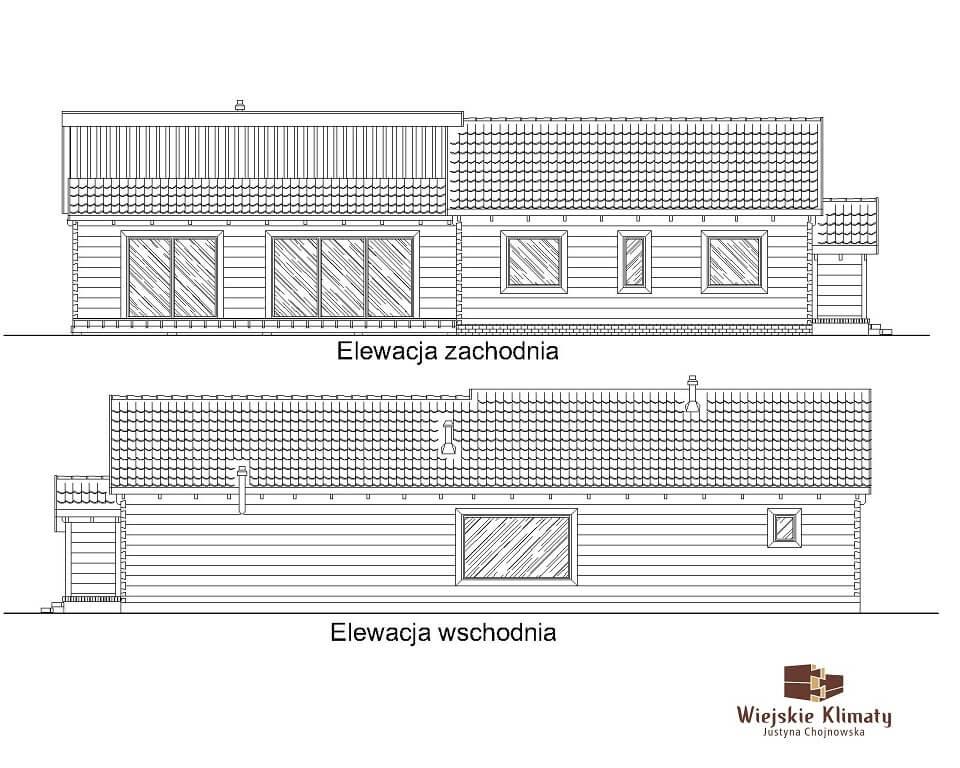 nowoczesny dom parterowy z bala 1,2
