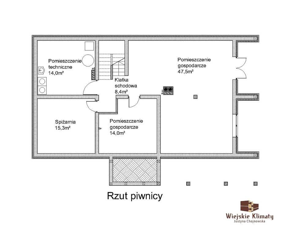 projekt domu drewnianego ziele 2,1