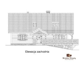 projekt domu drewnianego ziele 2,4
