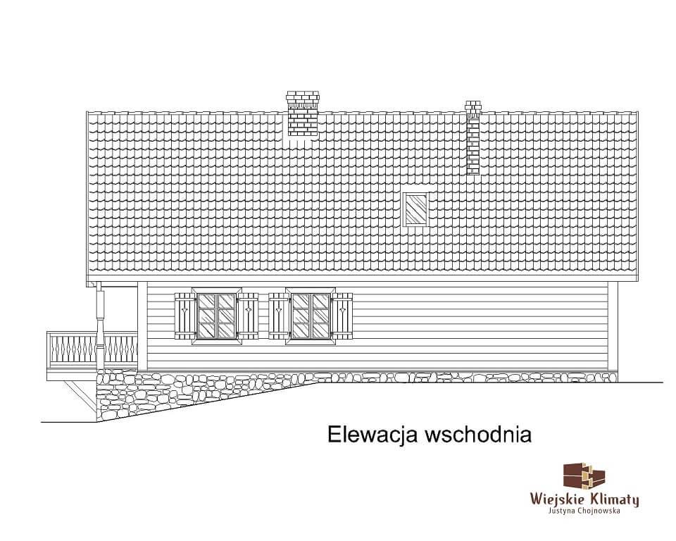 projekt domu drewnianego ziele 2,5