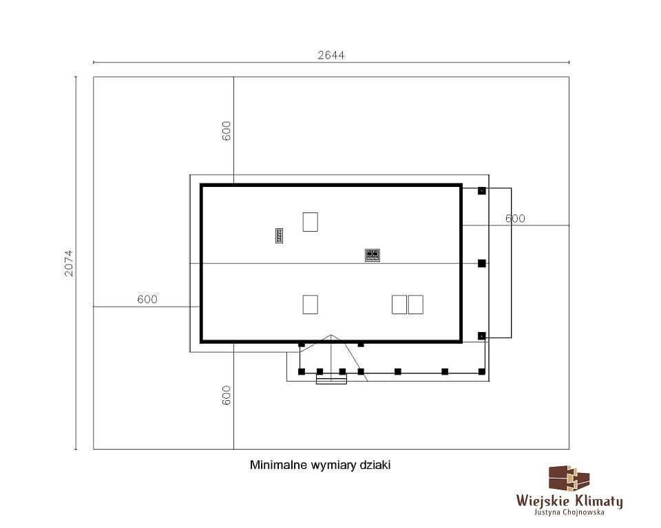 projekt domu drewnianego ziele 2,9