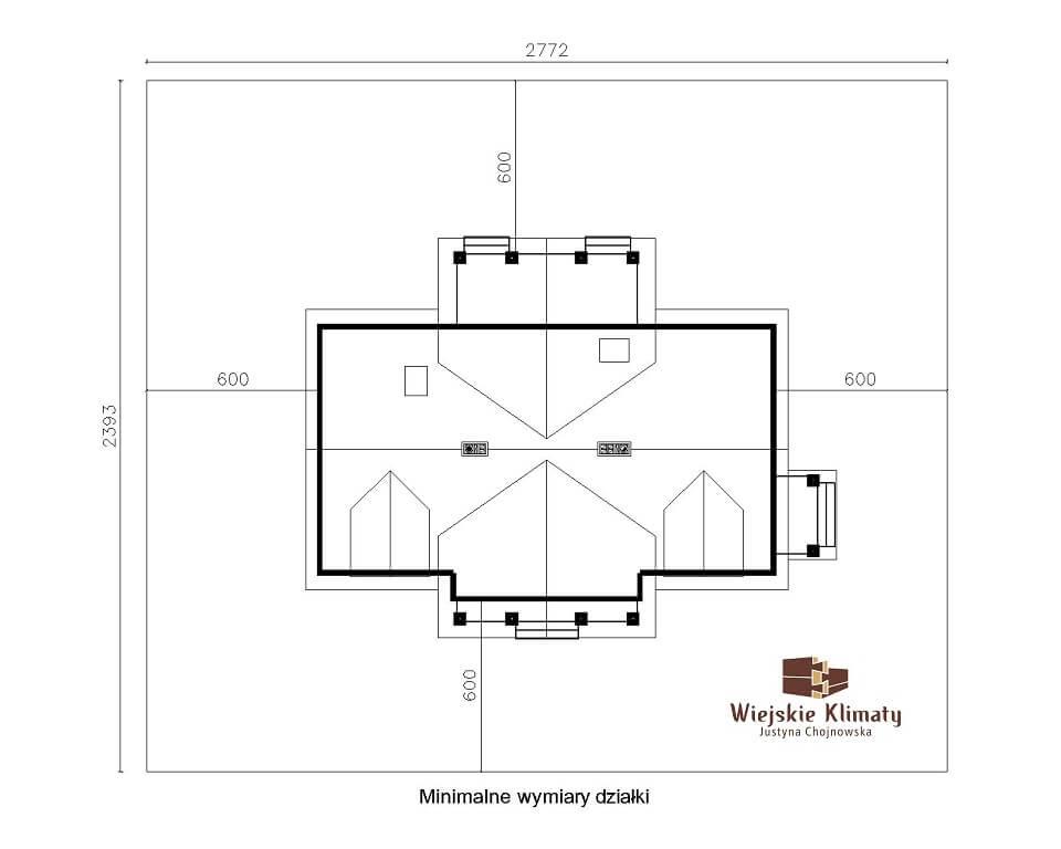projekt domu szkieletowego krynica 1,8