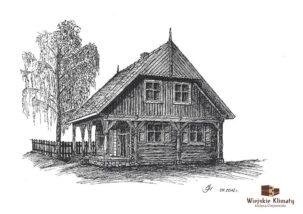 projekt domu mazurskiego z bala prostokątnego