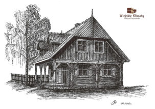 projekt drewnianego domu mazurskiego Brutka 2