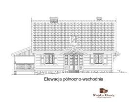 projekt domu murowanego w stylu kurpiowskim