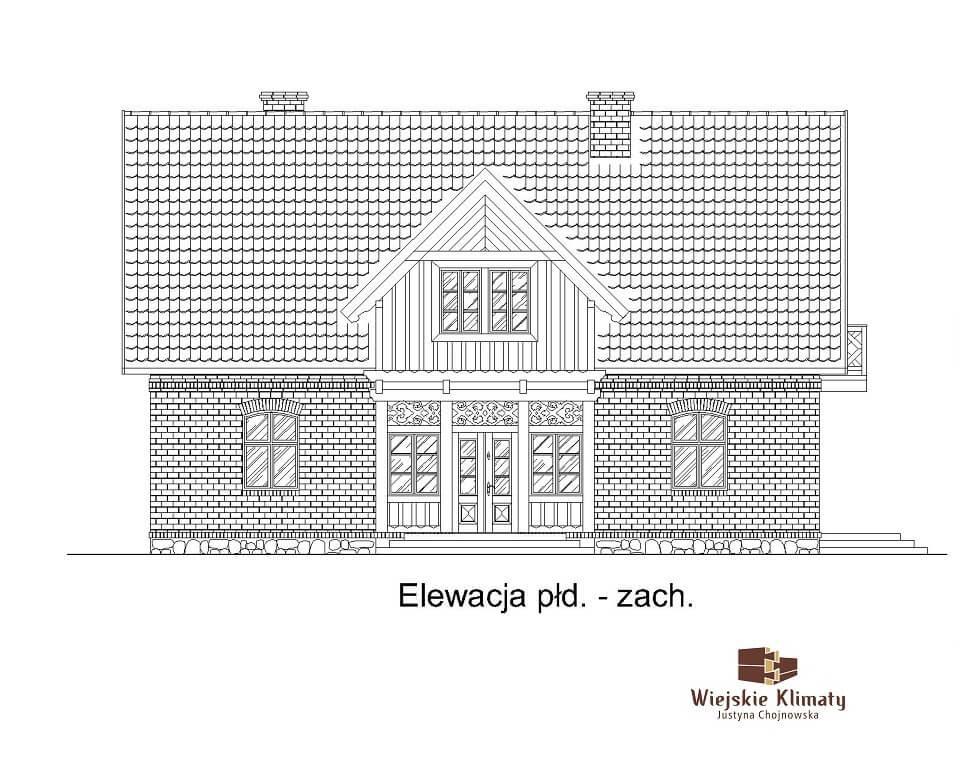 projekt domu indywidualnego z cegły